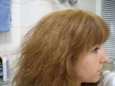 Blondierung dunkelblond färben nach Glossing Vorher