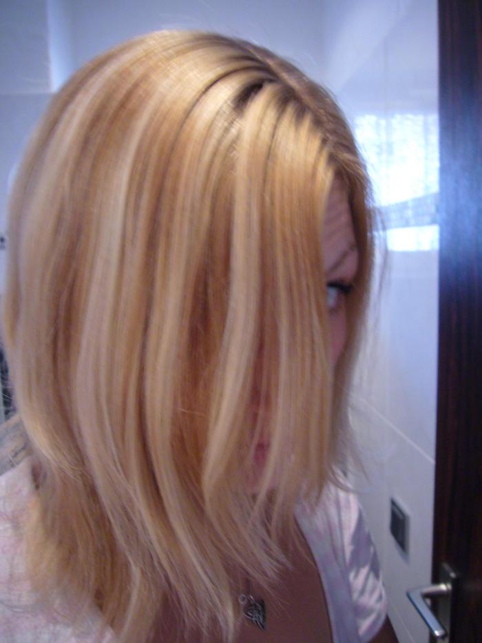 Haare strähnchen blonde dunkle Schwarze Haare